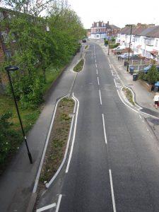Alma Road and its series of raingardens