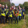 Volunteers help Thames21 plant 1,000 metres of new reedbeds in the Lea Navigation