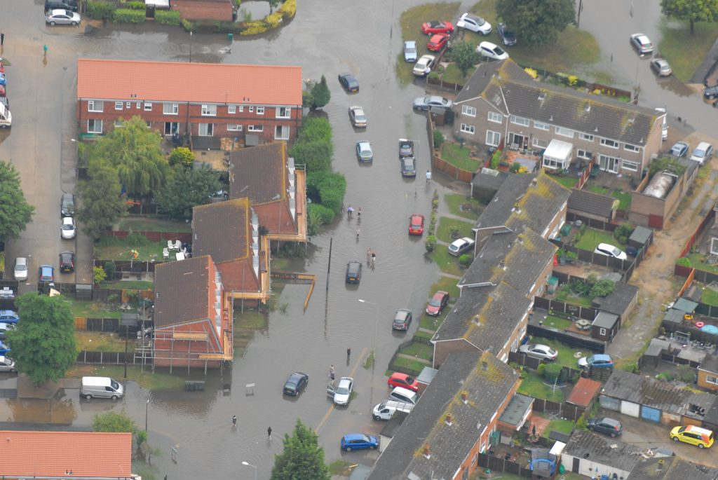 Example of flooding. Photo by Essex County Council