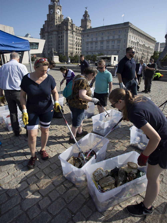 Volunteers at Plastic Free Mersey launch