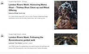 London Rivers Week events list 2021